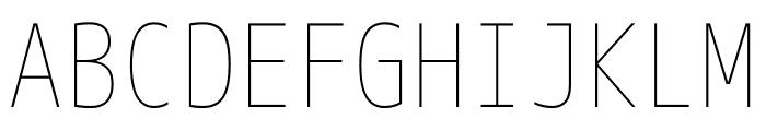 M+ 1m Thin Font UPPERCASE