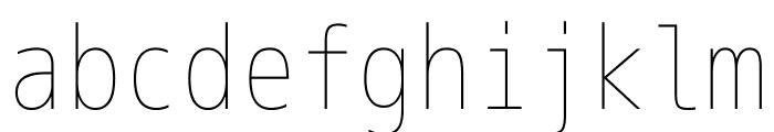 M+ 1m Thin Font LOWERCASE