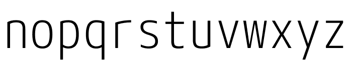 M+ 1mn Light Font LOWERCASE