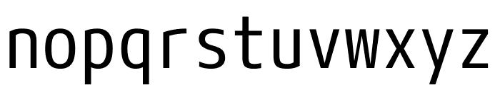 M+ 1mn Regular Font LOWERCASE