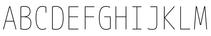 M+ 1mn Thin Font UPPERCASE