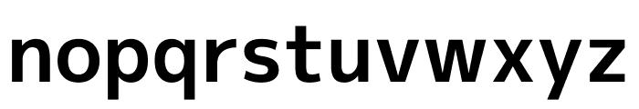 M+ 1p Bold Font LOWERCASE
