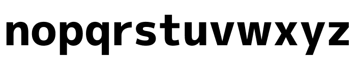 M+ 1p Heavy Font LOWERCASE