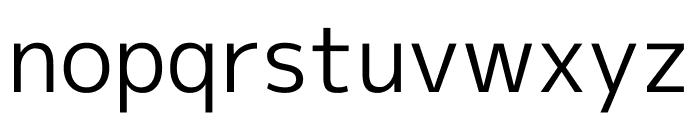 M+ 1p Regular Font LOWERCASE
