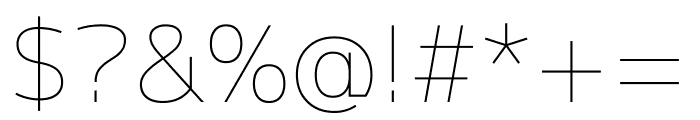 M+ 1p Thin Font OTHER CHARS