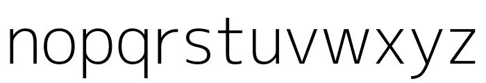 M+ 2c Light Font LOWERCASE