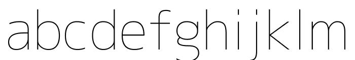 M+ 2c Thin Font LOWERCASE