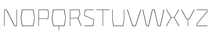 Mach Pro Thin Font UPPERCASE
