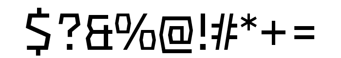 Mach Pro Wide Font OTHER CHARS