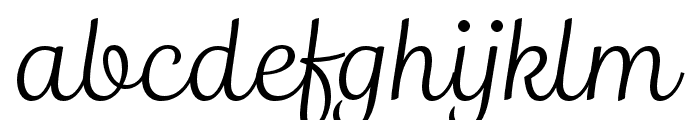 Madre Script Italic Font LOWERCASE