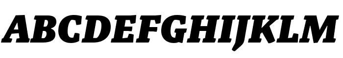 Malaga Narrow OTCE Black Italic Font UPPERCASE