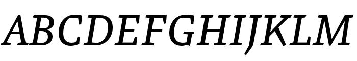 Malaga Narrow OTCE Reg Italic Font UPPERCASE