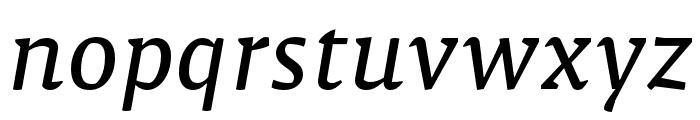 Malaga Narrow OTCE Reg Italic Font LOWERCASE