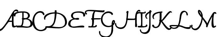 Mama Script Regular Font UPPERCASE