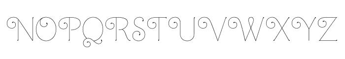 Mandevilla Light Light Font UPPERCASE