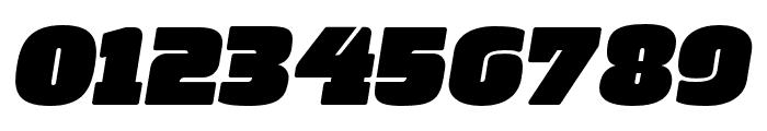 Manometer Oblique Font OTHER CHARS