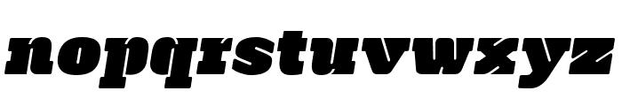 Manometer Oblique Font LOWERCASE