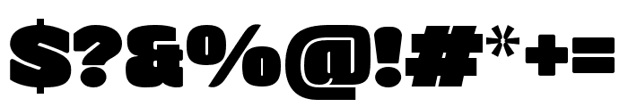 ManometerSans Regular Font OTHER CHARS
