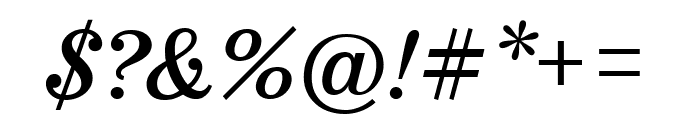 Marcia Italic Font OTHER CHARS