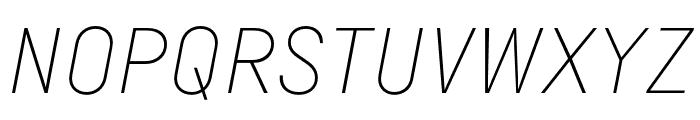 Margin MVB Extra Light Italic Font UPPERCASE