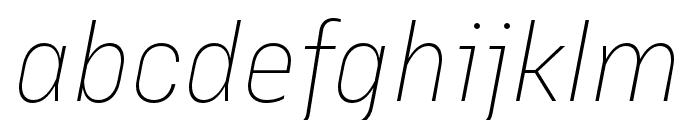 Margin MVB Extra Light Italic Font LOWERCASE