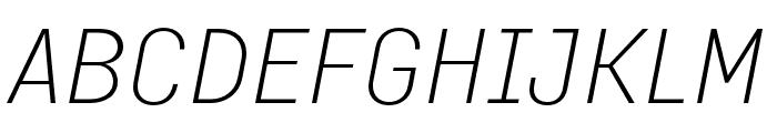 Margin MVB Light Italic Font UPPERCASE