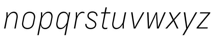Margin MVB Light Italic Font LOWERCASE