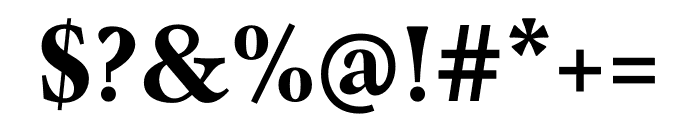 Mauritius Bold Condensed Font OTHER CHARS
