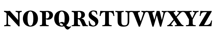 Mauritius Bold Condensed Font UPPERCASE