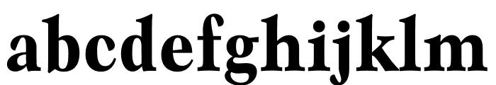 Mauritius Bold Condensed Font LOWERCASE