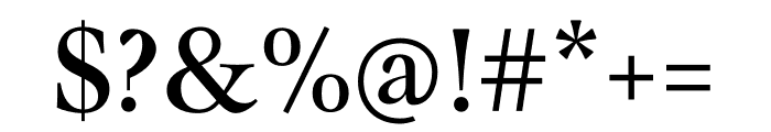 Mauritius Condensed Font OTHER CHARS