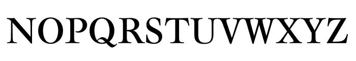 Mauritius Condensed Font UPPERCASE