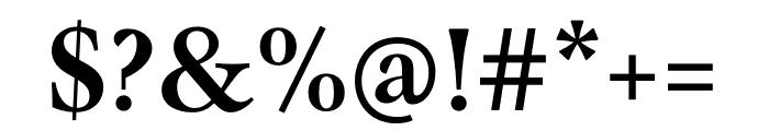 Mauritius Medium Condensed Font OTHER CHARS