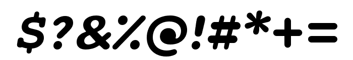 Maxular Bold Italic Font OTHER CHARS