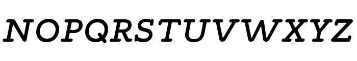 Maxular Medium Italic Font UPPERCASE
