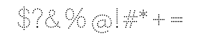 Memimas Pro Dots Font OTHER CHARS