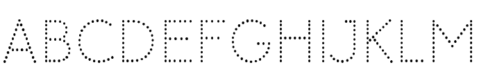 Memimas Pro Dots Font UPPERCASE