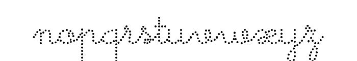 Memimas Pro Dots Font LOWERCASE