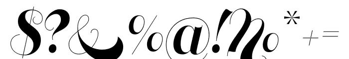 Memoriam Pro Outline Regular Font OTHER CHARS