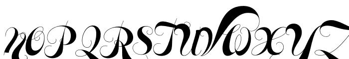 Memoriam Pro Outline Regular Font UPPERCASE