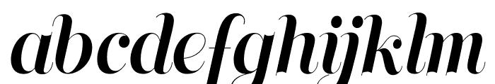 Memoriam Pro Outline Regular Font LOWERCASE