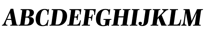 Mencken Std ExtraBold Italic Font UPPERCASE