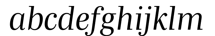 Mencken Std Italic Font LOWERCASE