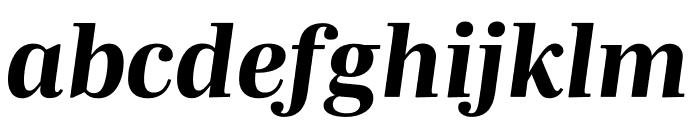 Mencken Std Text ExtraBold Italic Font LOWERCASE