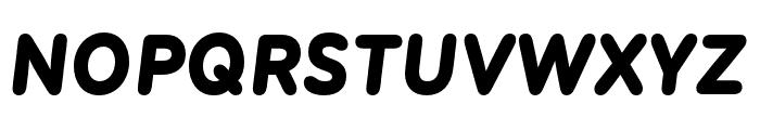 Menco Black Italic Font UPPERCASE