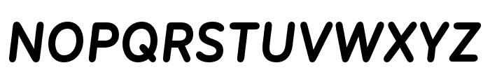 Menco Bold Italic Font UPPERCASE