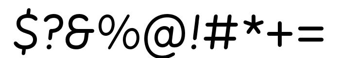 Menco Medium Italic Font OTHER CHARS
