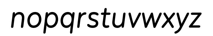 Menco Medium Italic Font LOWERCASE