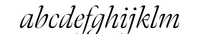 Meno Banner Condensed Light Italic Font LOWERCASE