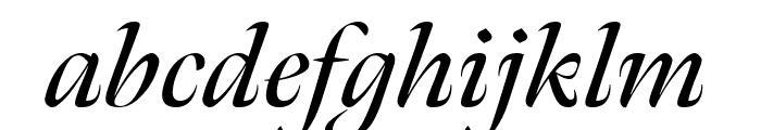 Meno Banner Condensed Semi Bold Italic Font LOWERCASE
